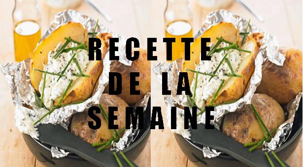 Pommes de terre en robe des champs, sauce cottage cheese et ciboulette